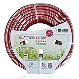 REHAU Premium-Gartenschlauch QUATTROFLEX TOP 3/4 Zoll 25m: sehr flexibel, kein verdrehen, extrem druckfest