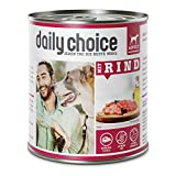daily choice   12 x 800 g   Nassfutter für Hunde   getreidefrei   Mit Rind   70% Frischfleisch- und Innereienanteil Optimale Verträglichkeit