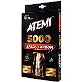 Atemi 5000 Tischtennisschläger (Kohlefaser/Balsaholz) Profi Tischtennisschläger für maximale Geschwindigkeit, Rotation und Kontrolle | Anfängerfreundlich,...