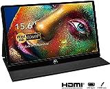 USB Monitor - 15,6 Zoll Tragbarer Monitor IPS Bildschirm 1920×1080 Full HD, Portable Monitor mit USB-C/Typ-C Mini-HDMI für PC, Handy, Xbox, PS4 usw, mit...