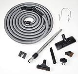 Genialvac Standard-Schlauch-Set für Zentralstaubsauger für Saugdosen 36-38mm (Länge 10,6m)
