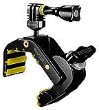 iSHOXS Shark - Universal Action-Kamera Mount (28-65mm Klemmbereich), Aluminium Klemm-Halterung für GoPro Action-Cams - Schwarz