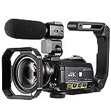 4K Camcorder, ORDRO AC3 Ultra HD Camcorder Videokamera 1080P 60FPS WiFi Video Kamera mit IR Nachtsicht, Pausenfunktion, 30X Digitalzoom, Mikrofon,...