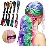 Haarkreide kamm - 10 Stück Haarfarbe Kamm, Temporär Einmalige Auswaschbar Haarfarbe Kreide Kamm Set für Kinder Mädchen - Haarfärbemittel Party und Cosplay...
