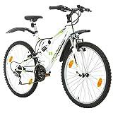 Probike EXTREME 26 Zoll Fahrrad Mountainbike Vollfederung Shimano 18 Gang Herren-Fahrrad, Damen-Fahrrad, Jungen-Fahrrad Mädchen-Fahrrad, geeignet ab 155 –...