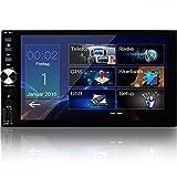 Tristan Auron BT2D7026 Autoradio mit Mirrorlink I GPS Navigation - Navi Software I 7 Zoll Touchscreen Bildschirm I Doppel Din I Bluetooth Freisprecheinrichtung...