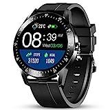 GOKOO Smartwatch Herren 1.28inch Full-Touchscreen 24 Sportmodus Fitness Tracker Schrittzähler Pulsuhren Schlafmonitor Blutdruck Messgeräte Monitoring...