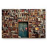 okstore1988 Fußmatte, rutschfest, für Türen, Buchwände, Retro-Tür, 50,8 x 81,3 cm, groß, dünn, niedriger Flor, maschinenwaschbar, Badezimmer, Küche,...