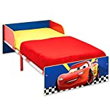TW24 Disney Babybett - Holz Kinderbett - Jugendbett - Kinderbett 140x70 cm mit Motivauswahl (Cars)