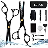 Kardition Haarschneideschere Set [11PCS] Haarschere Friseurschere [6,7 Inch] [Gerade Schere] [Effilierschere] [Edelstahl] Schere Haare Schneiden gilt für...