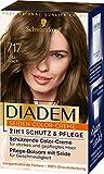 Diadem Schwarzkopf Seiden-Color-Creme, hochwertige Haarfarbe 717 Hellbraun Stufe 3, 3er Pack (3 x 170 ml)