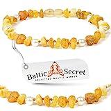 Bernstein Halsband für Hunde und Katzen - Länge von 20cm bis 70 cm - Top Qualität auf Amazon - Bernsteinkette-Zeckenhalsband-Zeckenschutz - 100% aus...