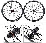 ZHTY Rennrad Fahrradrad 700C Radsatz ultraleichte Carbonfelgen, 38mm Felgen Scheibenbremse abgedichtete Lager 5mm Schnellspanner mit Radnabenscheibe...