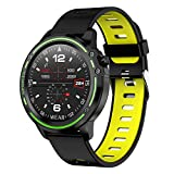 Padgene IP68 wasserdichte Sport Fitness Uhr Voller Touchscreen Smartwatch Sportuhr Fitness Tracker Armbanduhr mit EKG Blutdruck Blutsauerstoff Pulsmesser für...