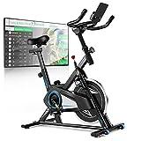 Profun Fahrrad Ergometer Heimtrainer 120 kg mit App-Verbindung, Fitnessfahrrad Fitnessbike mit verstellbarem,Sitz, Herzfrequenzsensoren,Widerstand und...