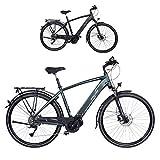 Fischer Herren E-Bike Trekking VIATOR 4.0i (2020), grün matt, 28', RH 50 cm, Mittelmotor 50 Nm, 48 Volt Akku im Rahmen, Rahmenhöhe