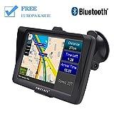 AWESAFE Bluetooth Navigation für Auto LKW PKW GPS Navi 7 Zoll Navigationsgerät, unterstützt lebenslang kostenlos Kartenupdates