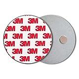 ECENCE Rauchmelder Magnethalter 3 Stück Selbstklebende Magnethalterung für Rauchmelder Ø 70mm schnelle & sichere Montage ohne Bohren und Schrauben für alle...