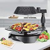 RENXR Teppanyaki-Grill, 3D-Elektro-Grill Mit Einstellbarer Temperaturregelung Funktion Desktop Grill Kochplatte, Infrarotgrill.