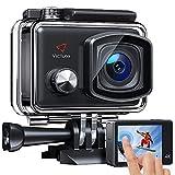 Victure AC900 Action Cam Echte 4K 20MP WiFi Touchscreen Unterwasserkamera wasserdichte 30M Helmkamera mit Extreme Video/Bildstabilisator und 8 Filtereffekte