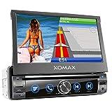 XOMAX XM-DN763 Autoradio mit Mirrorlink, GPS Navigation, Navi Software, Bluetooth Freisprecheinrichtung, 7 Zoll / 18cm Touchscreen Bildschirm, DVD, CD, USB, SD,...