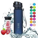 """720°DGREE Trinkflasche """"uberBottle"""" - 500 ml, 0,5 l, Blau - Neuartige Tritan Wasser-Flasche - Water Bottle BPA Frei - Ideale Sportflasche für Kinder,..."""