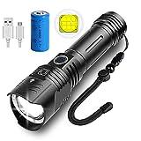 KENSUN LED Taschenlampe, Extrem Hell 6000 Lumen XHP99,5 Modi, zoombare, USB Wiederaufladbare Taschenlampe, IP67 wasserdicht, Fackel für Camping, Wandern und...
