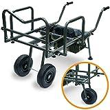 G8DS® XXL Angel Trolley Karpfen Transportwagen Transportkarre Barrow Tacklekarre Karpfen Rod Pod für 3 Ruten