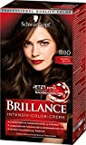 Schwarzkopf Brillance Intensiv-Color-Creme, 880 Dunkelbraun Stufe 3, 3er Pack (3 x 143 ml)