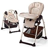Hauck Sit'n Relax Newborn Set – Neugeborenen Aufsatz und Kinderhochstuhl ab Geburt, mit Liegefunktion / inkl. Spielbogen, Tisch, Rollen / höhenverstellbar,...