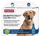 DuoProtect Hund ( 30 kg)   Pflege & Schutz für Hunde   Physikalische Parasitenabwehr   Mit Dimeticon & Aleo Vera   Wirkt bis zu 30 Tage   3 x 4,5 ml