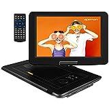 APEMAN 15,5'' mit Tragbarer DVD Player Auto Eingebautem 6000mAh Portable CD Player 6 Stunden Akku HD Display Unterstützt SD/USB/AV Out/IN Spiele...