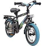 BIKESTAR Kinderfahrrad für Mädchen und Jungen ab 3-4 Jahre | 12 Zoll Kinderrad Classic | Fahrrad für Kinder Schwarz & Blau | Risikofrei Testen