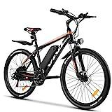 Vivi E Bike Mountainbike Ebike Herren 26 Zoll Elektrofahrrad 350W Elektrisches Fahrrad mit 36V 10.4 Lithium-Batterie und Shimano 21 (26 Zoll Gelb)