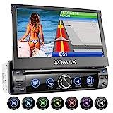 XOMAX XM-DN763 Autoradio mit Mirrorlink, GPS Navigation, Navi Software, Bluetooth Freisprecheinrichtung, 7 Zoll / 18cm Touchscreen Bildschirm, RDS, DVD, CD,...