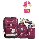Ergobag Cubo FeenzauBär Special Edition Schulrucksack-Set 5tlg + Sicherheitsset Pink