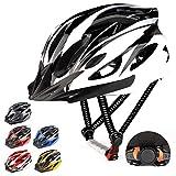 RaMokey Fahrradhelm für Erwachsene Herren Damen, EPS-Körper + PC-Schale, MTB Mountainbike Helm mit Abnehmbarem Visier und Polsterung, Verstellbar Radhelm...