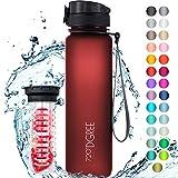 """720°DGREE Trinkflasche """"uberBottle"""" softTouch +Früchtebehälter - 1L - BPA-Frei - Wasserflasche für Uni, Sport, Fitness, Fahrrad, Outdoor - Sportflasche..."""