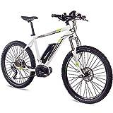 CHRISSON 27,5 Zoll E-Bike Mountainbike Bosch - E-Mounter 1.0 Weiss 48cm - Elektrofahrrad, Pedelec für Damen und Herren mit Bosch Motor Performance Line 250W,...