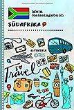 Südafrika Mein Reisetagebuch: Kinder Reise Aktivitätsbuch zum Ausfüllen, Eintragen, Malen, Einkleben A5 - Ferien unterwegs Tagebuch zum Selberschreiben -...