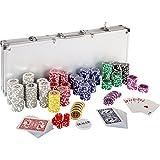 Ultimate Pokerset mit 500 hochwertigen 12 Gramm METALLKERN Laserchips, inkl. 2x Pokerdecks, Alu Pokerkoffer, 5x Würfel, 1x Dealer Button, Poker, Set,...