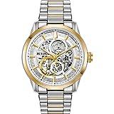 Bulova Herren Analog Automatik Uhr mit Edelstahl Armband 98A214