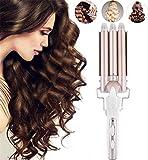 Lockenstab 3 Fässer Welleneisen Haar Lockenstab Big Wave Locken, 22 mm Keramik Big Hair Styling Tool, schnelles Erhitzen, Lockenwickler für lang/kurz