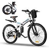 Vivi Ebike Mountainbike 26 Zoll Elektrofahrrad Klappbar Für Herren und Damen,36V 350W Ebike mit Abnehmbare 8Ah Lithium-Ionen Batterie,Shimano 21-Gang...