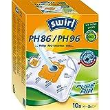 Swirl PH 86/ PH 96 MicroPor Plus Staubsaugerbeutel für Philips, AEG, Electrolux und Volta Staubsauger, Anti-Allergen-Filter , Dauerhaft hohe Saugleistung , 10...