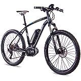 CHRISSON 27,5 Zoll E-Bike Mountainbike Bosch - E-Mounter 3.0 schwarz - Elektrofahrrad, Pedelec für Damen und Herren - Bosch Motor Performance Line CX 250W,...