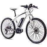 CHRISSON 27,5 Zoll E-Bike Mountainbike Bosch - E-Mounter 3.0 Weiss 44cm - Elektrofahrrad, Pedelec für Damen und Herren - Bosch Motor Performance Line CX 250W,...