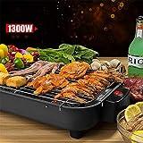 ZHLFDC Edelstahl Smokeless Elektrogrill, 1300w Barbecue Grill, Energieeinsparung, einfach zu Clean Design, 220V, 50 Hz, 39 * 8.4 * 24cm