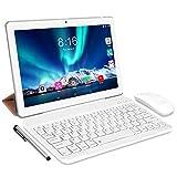 Tablet Android 10.0 - TOSCiDO Tablets 10 Zoll 4 GB/RAM,64 GB/ROM Tablet PC Octa Core,Dual SIM,WiFi Unterstützung Bluetooth Tastatur |Maus| Tablet Cover und...