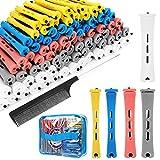 SPTHTHHPY 100 Stück 5 Größen Lockenwickler Curler,Haar Roller Locken Curler für Damen Männer und Kinder,Haar-Styling-Tools für Langes Mittellanges Haar (5...